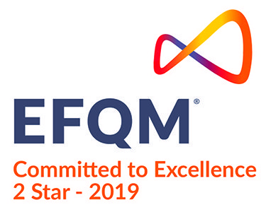 logo efqm - committed to excellence 2 star - 2019